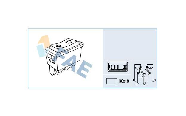 bm0//1//cm0//1 FL Leve Vitre Interrupteur RENAULT MEGANE II Trafic II