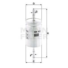 Φίλτρο καυσίμου - WK 512